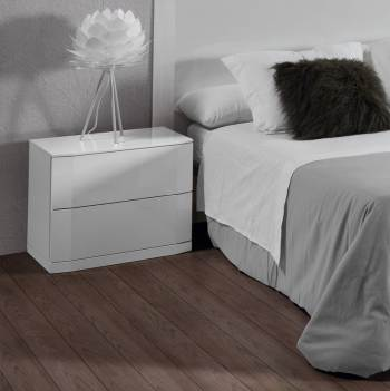 Gloss White Bedside Table