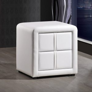 2 Drawer Leather Nightstand