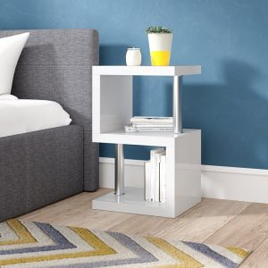 High Gloss Bedside Table