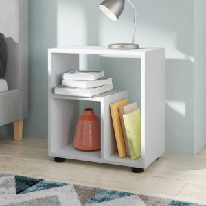 Classy White Bedside Table